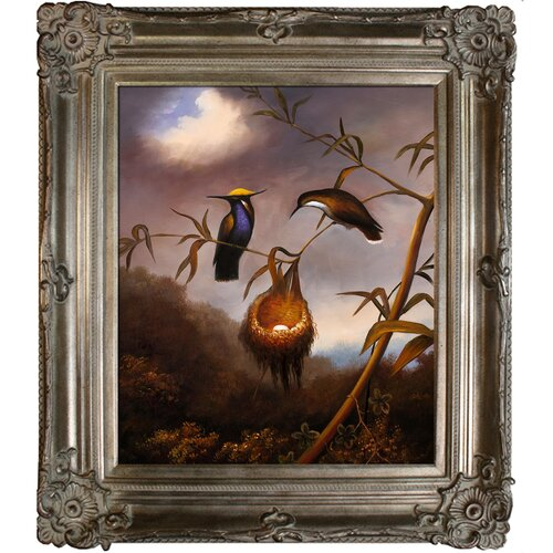 Black-Breasted Plovercrest Heade Framed Original Painting