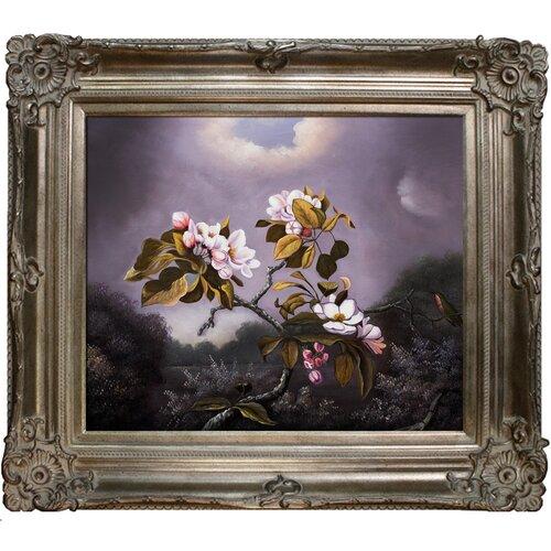 Apple Blossoms and Hummingbird Heade Framed Original Painting