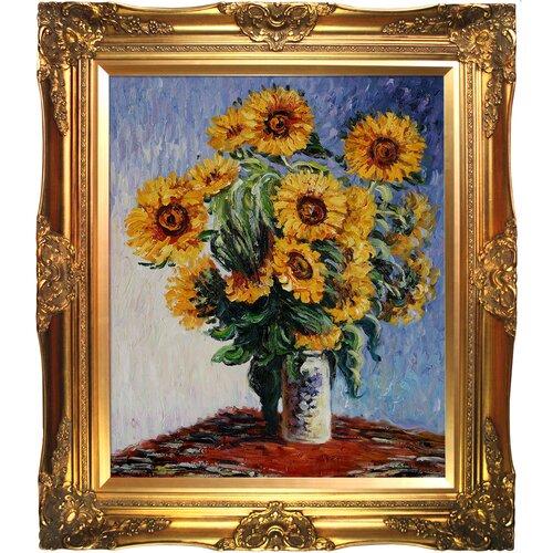 Sunflowers Monet Framed Original Painting