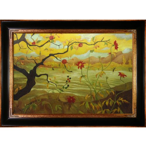 Tori Home Apple Tree With Red Fruit Ranson Framed Original Painting