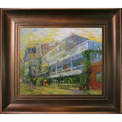 The Restaurant De la Sirene at Asnieres by Van Gogh Framed Hand Painted Oil on ...