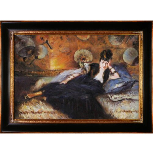 Tori Home Lady with Fans, Portrait of Nina De Callais by Manet Framed Hand Painted ...