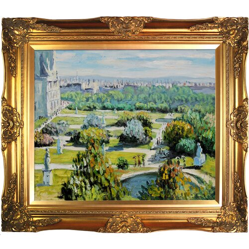 Tori Home Les Tuileries, Musee Marmottan by Monet Framed Hand Painted Oil on Canvas