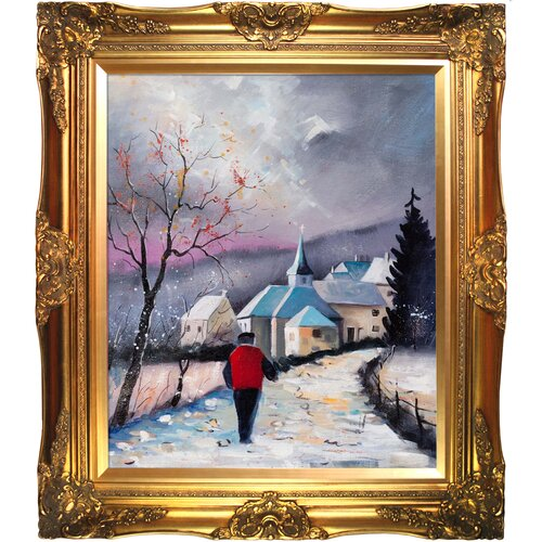 Tori Home Cornimont by Pol Ledent Framed Hand Painted Oil on Canvas