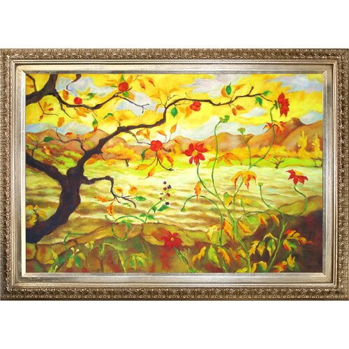 Tori Home Apple Tree with Red Fruit by Paul-Elie Ranson Framed Hand Painted Oil on ...