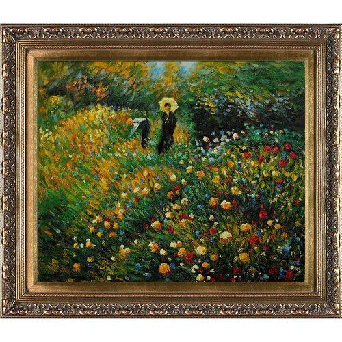Woman with a Parasol in a Garden (Frau mi Sonnenschirm) by Renoir Framed Original Painting ...