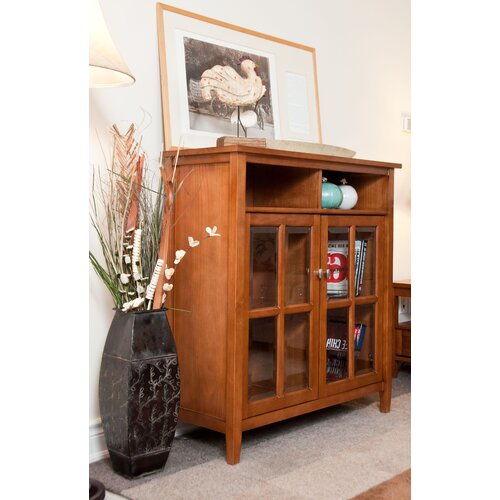 Simpli Home Warm Shaker Storage and Entertainment Cabinet