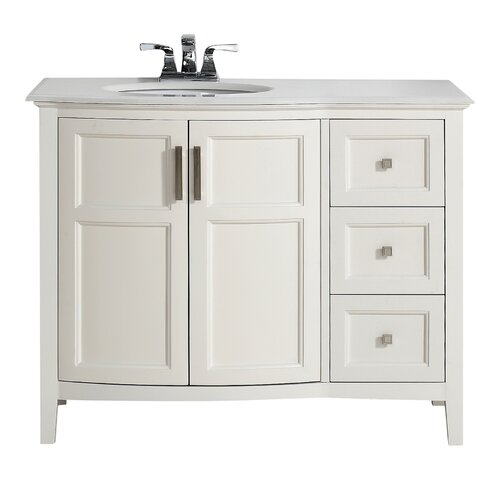 winston 43 single rounded front bath vanity set wayfair