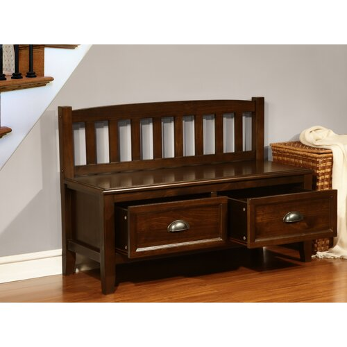 Simpli Home Burlington Wood Storage Entryway Storage Bench