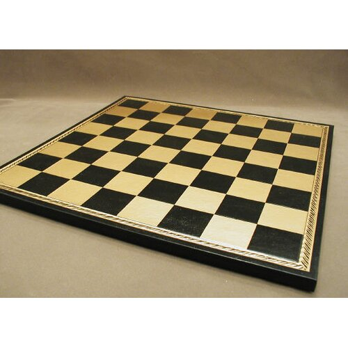 """Ital Fama 15"""" Pressed Leather Chess Board"""