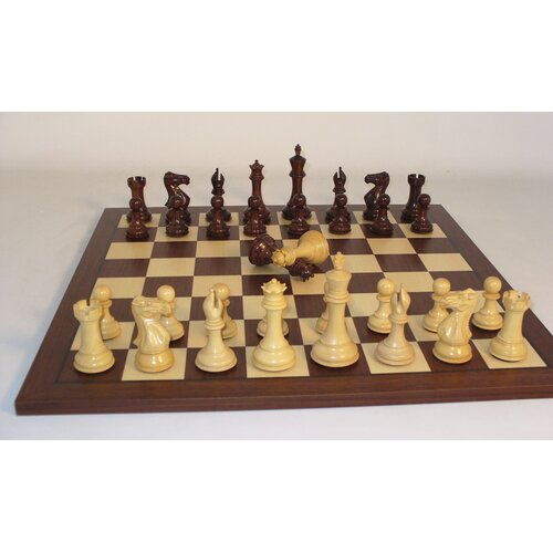 WorldWise Chess Rosewood Stallion Knight Double Queen Dark Rosewood Chess Board