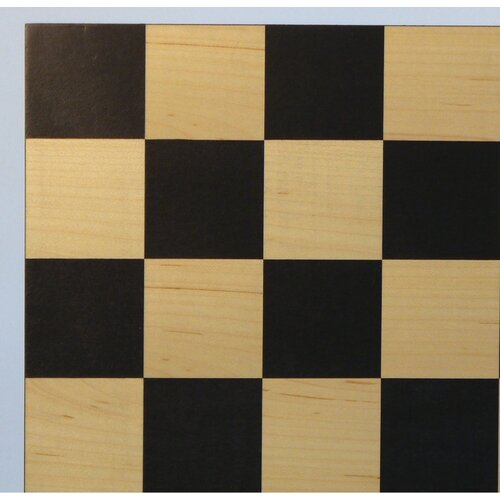 "WorldWise Chess 15.5"" Black / Maple Basic Chess Board"
