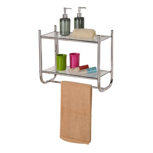 Control Brand Control Brand Two tiered Glass Bath Organizer