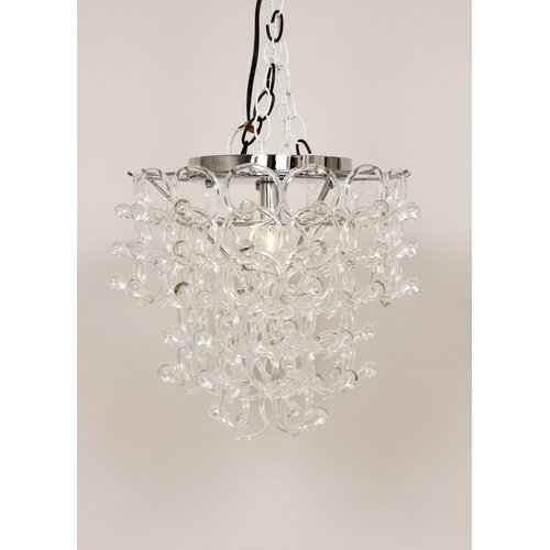 Anna 1 Light Crystal Chandelier