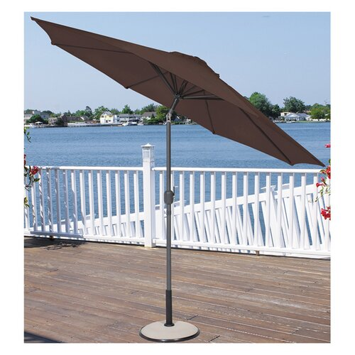 LB International 9' Crank Market Umbrella