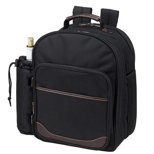 Picnic At Ascot Classic Picnic Backpack With Four Place Settings