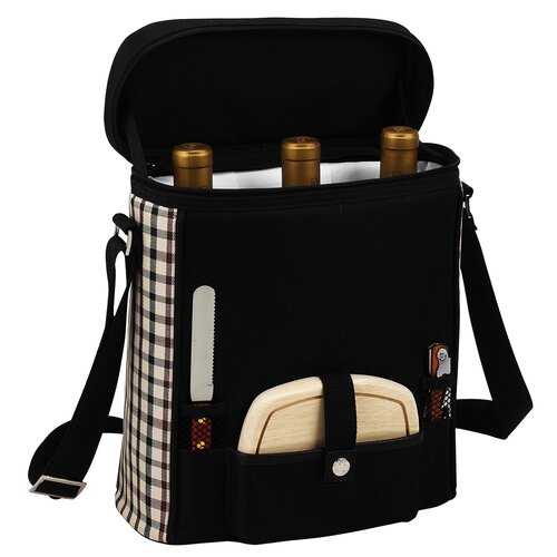 Picnic At Ascot London Divided Cooler Three Bottle Tote