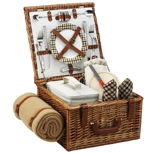 Picnic At Ascot Cheshire Basket for Two with Blanket in London