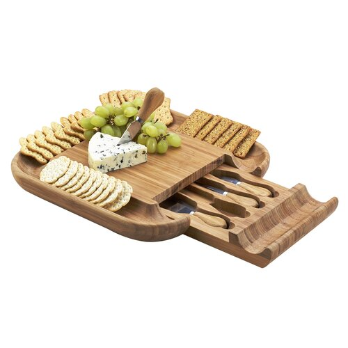 Picnic At Ascot Malvern Cheese Board Set with Cracker Rim