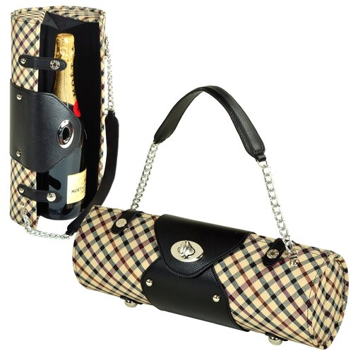Picnic At Ascot Patterned Wine Carrier and Purse
