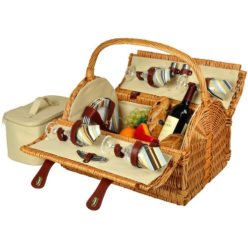 Picnic At Ascot Yorkshire Picnic Basket for Four