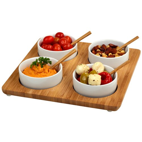 "Picnic At Ascot 9.8"" Four Square Bowl Serving Dish"