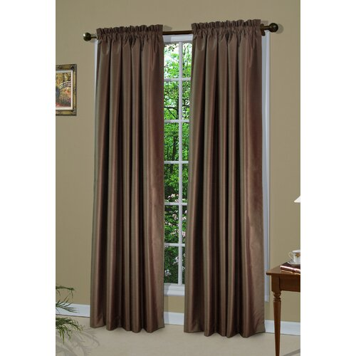Thermalogic Shangri-la A Dupioni Weave Rod Pocket Curtain Single Panel