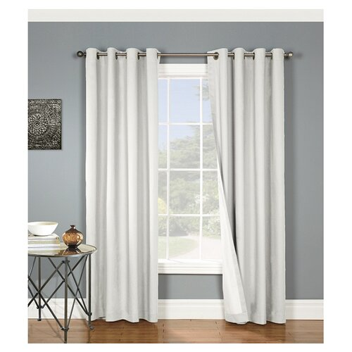 Thermalogic Nantucket Cotton Grommet Window Curtain Single Panel