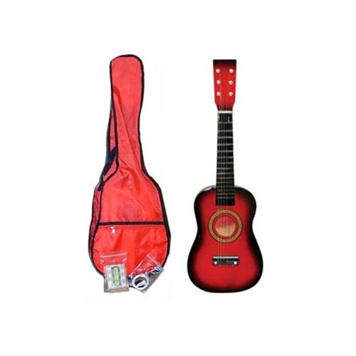 Stedman Pro Kids' Toy Acoustic Guitar Kit in Red