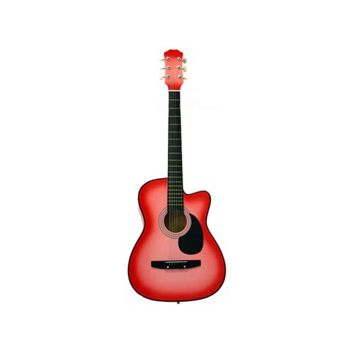Stedman Pro Acoustic Cutaway Guitar with Gig Bag and Accessories in Pink