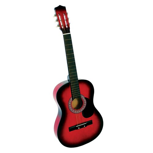Acoustic Classical Guitar with Gig Bag and Accessories in Red