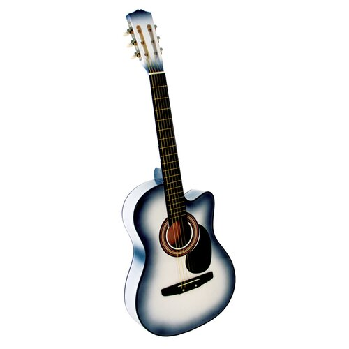 Stedman Pro Acoustic Cutaway Guitar with Gig Bag and Accessories in White
