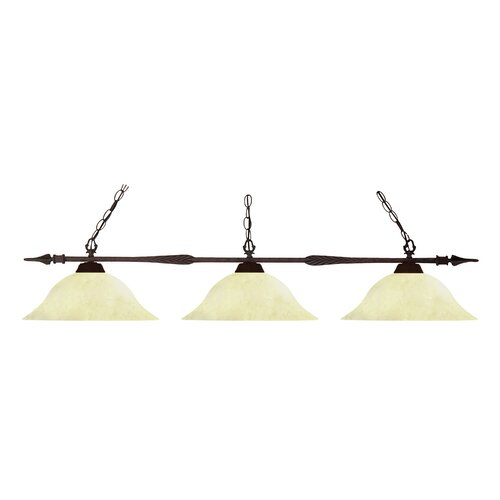 Aztec 3 Light Billiard Light