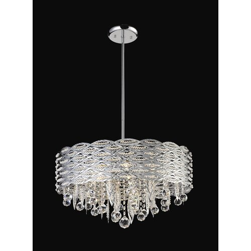 Adara 6 Light Crystal Chandelier in Chrome