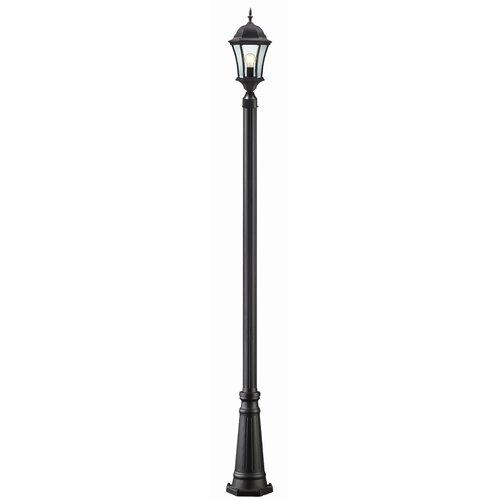 "Z-Lite Wakefield 1 Light 118"" Aluminum Outdoor Post Lantern Set"