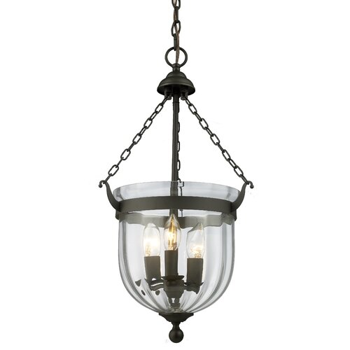 Z-Lite Warwick 3 Light Foyer Pendant