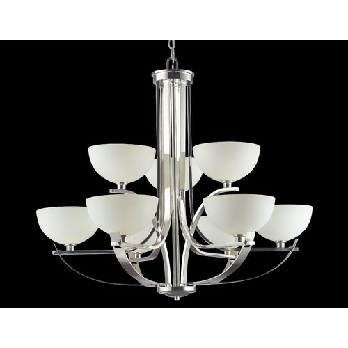 Ellipse 9 Light Chandelier