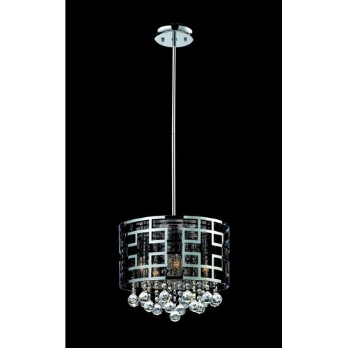 Mirach 6 Light Crystal Chandelier in Chrome