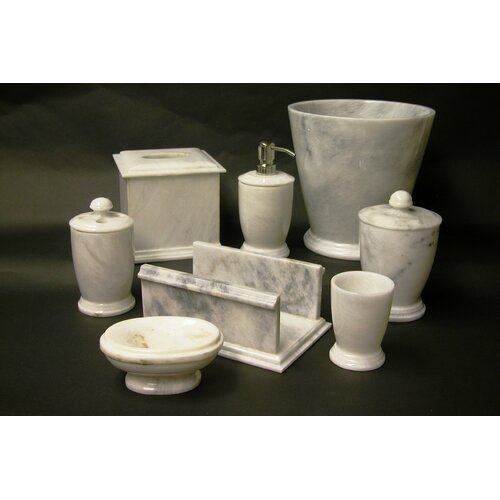 Nature Home Decor Series 300 in White Z Marble 7 Piece Bath Set