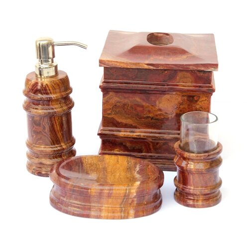 Nature Home Decor Multi Onyx Bath Set