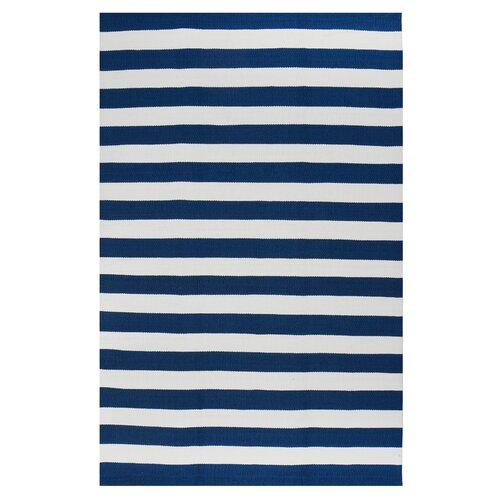 Nantucket Blue/White Striped Indoor/Outdoor Rug