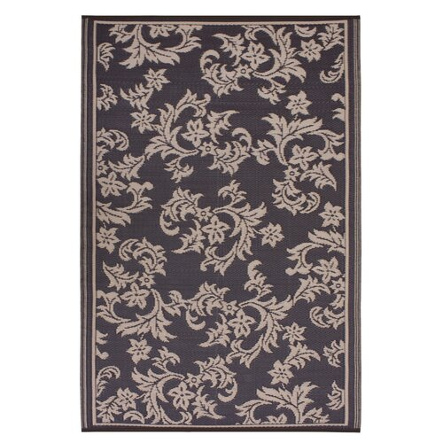 Fab Rugs World Versailles Chocolate Brown/Tan Indoor/Outdoor Rug