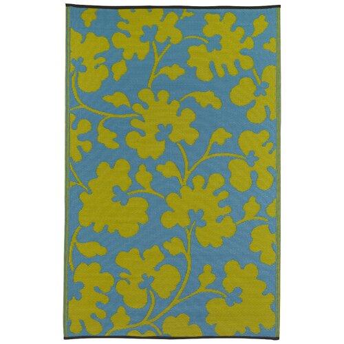 Fab Rugs World Oslo Turquoise/Lemon Yellow Indoor/Outdoor Rug