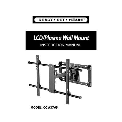 "Ready Set Mount Articulating Arm/Tilt/Swivel Universal Corner Mount for 37"" - 65"" Plasma/LCD/LED"