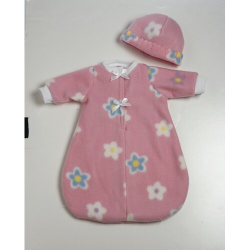 Baby Doll Accessories 6 Pieces Bunting in Pink