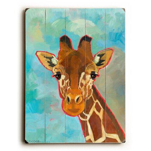 Giraffe Wood Sign