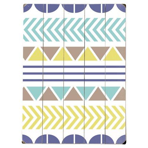 Color Pattern Wood Sign