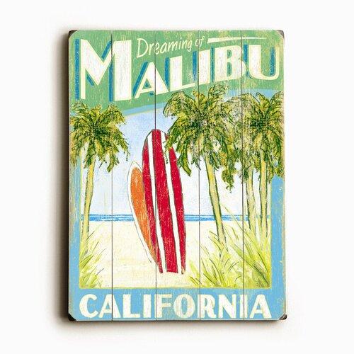 Artehouse LLC Surfboards Planked Vintage Advertisement Plaque