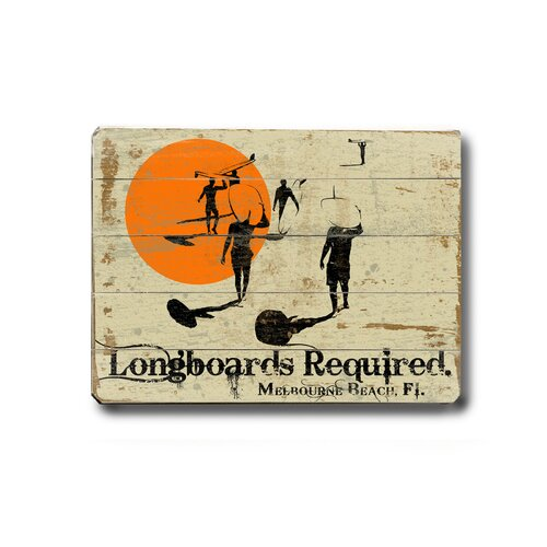 Artehouse LLC Longboards Required Planked Vintage Advertisement Plaque