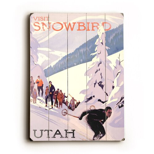 Artehouse LLC Snowbird Utah Vintage Advertisement Plaque